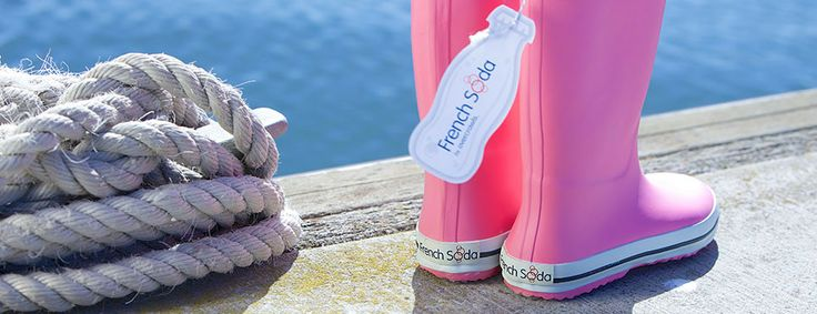 French Soda - winter gumboots in candy floss pink.