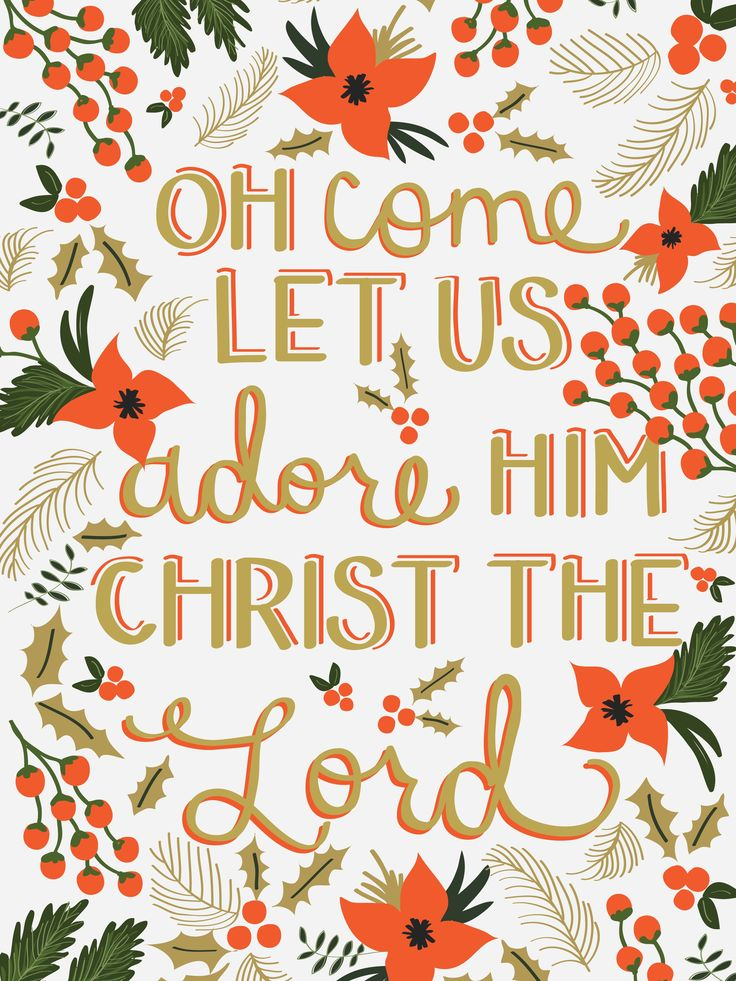 Oh come, let us adore Him!