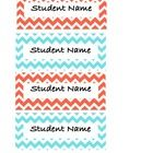 Coral and blue editable chevron name tags! ...