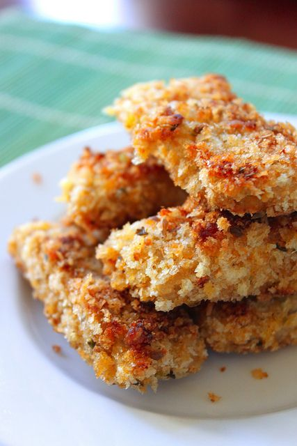 Breaded Tempeh   What the heck is Tempeh? It's cooked and slighty fermented soybeans smashed into a patty. SO,here is a beginners Tempeh recipe to try, since I have never even tried it before. breaded tempeh sounded delicious!