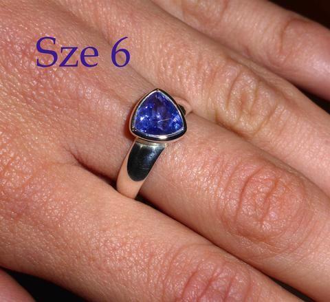 Tanzanite Ring Trillium Cut | Genuine Stone | 925 Sterling Silver | Size 6 | Spiritual Superlative | Authentic stone from Tanzania | Mt Kilimanjaro | Crystal Heart Melbourne Australia since 1986
