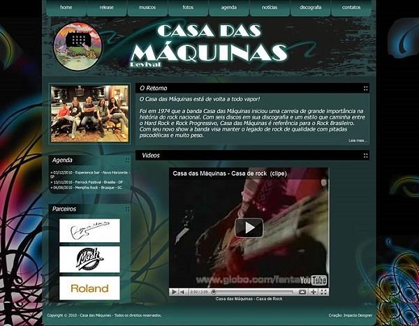 Site: Banda Casa das Máquinas