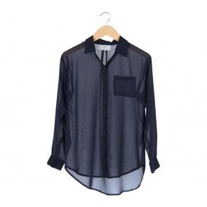 Blue Barrel Sleeve Shirt