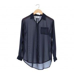 Blue Barrel Sleeve Shirt