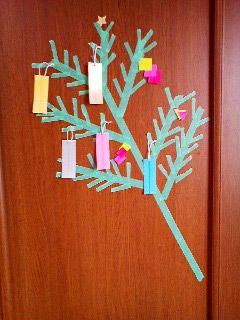 -ドアに七夕飾り- 2010年07月の記事 | マスキングテープの使い方とアイディア|MASKINGTAPE.JP