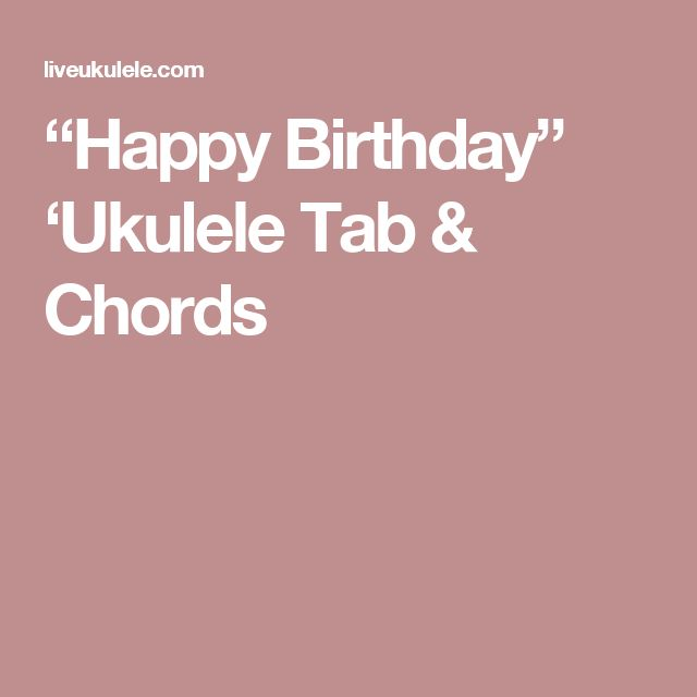 Best 25+ Happy Birthday Guitar Chords Ideas On Pinterest