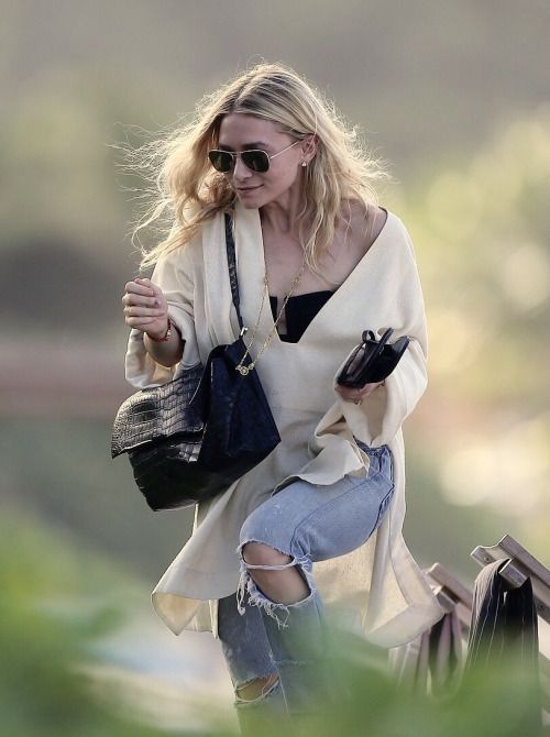 Ashley leaving a beach in St Barts on December 29, 2016
