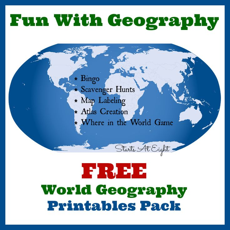 Fun With Geography ~ FREE Geography Printables http://www.startsateight.com/2016/01/free-geography-printables/