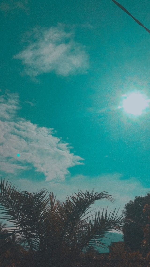 Sky Blue Gambar Tersembunyi Fotografi Alam Fotografi