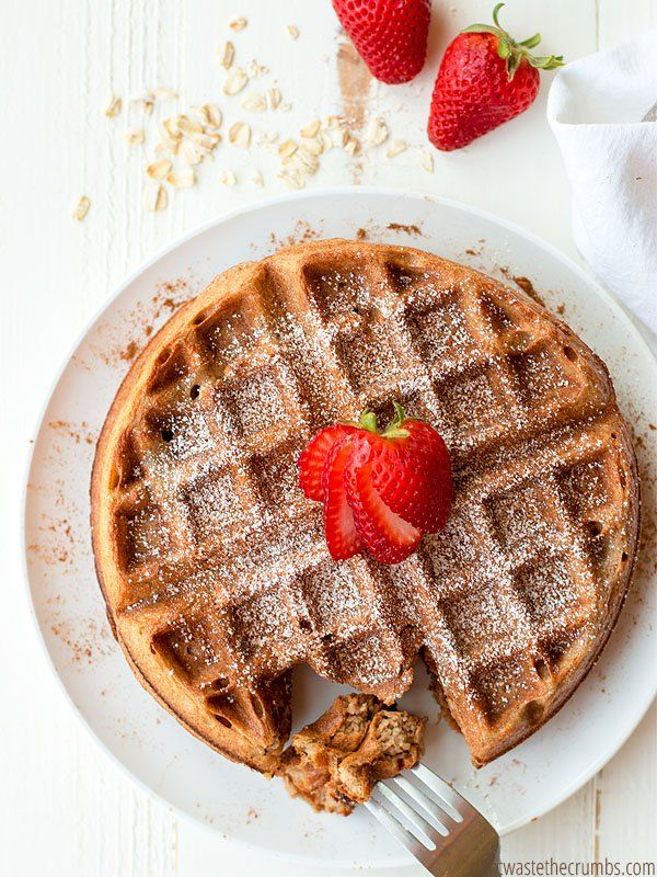 This might be the most perfect waffle recipe out there. No kidding! Plus it's gluten and milk-free. Perfect for your next Saturday morning!