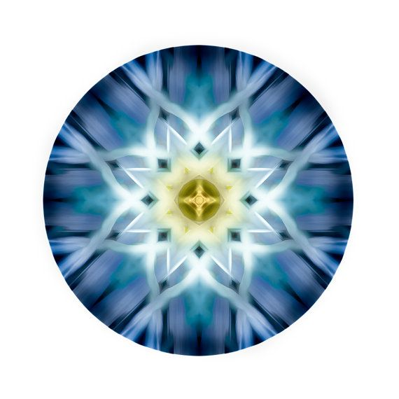 Extra large art   Mandala Art  Meditation by TheSkyeBlueGallery
