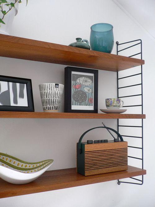 hylla ikea string ~ string shelf  dims til stuen  pinterest