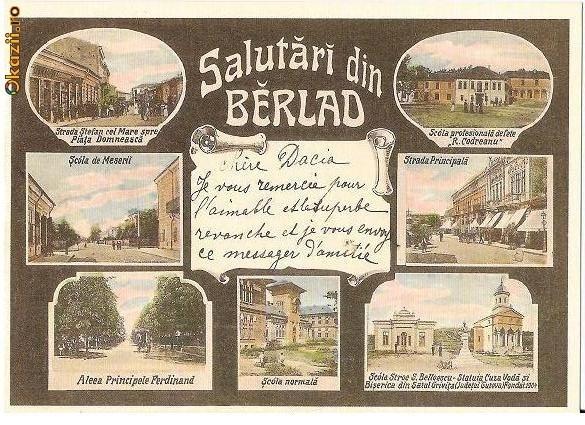 Barlad - Salutari din Berlad - pe la 1900