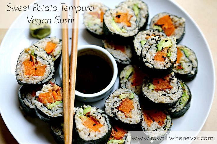 Sweet Potato Tempura Vegan Sushi HOW TO VIDEO