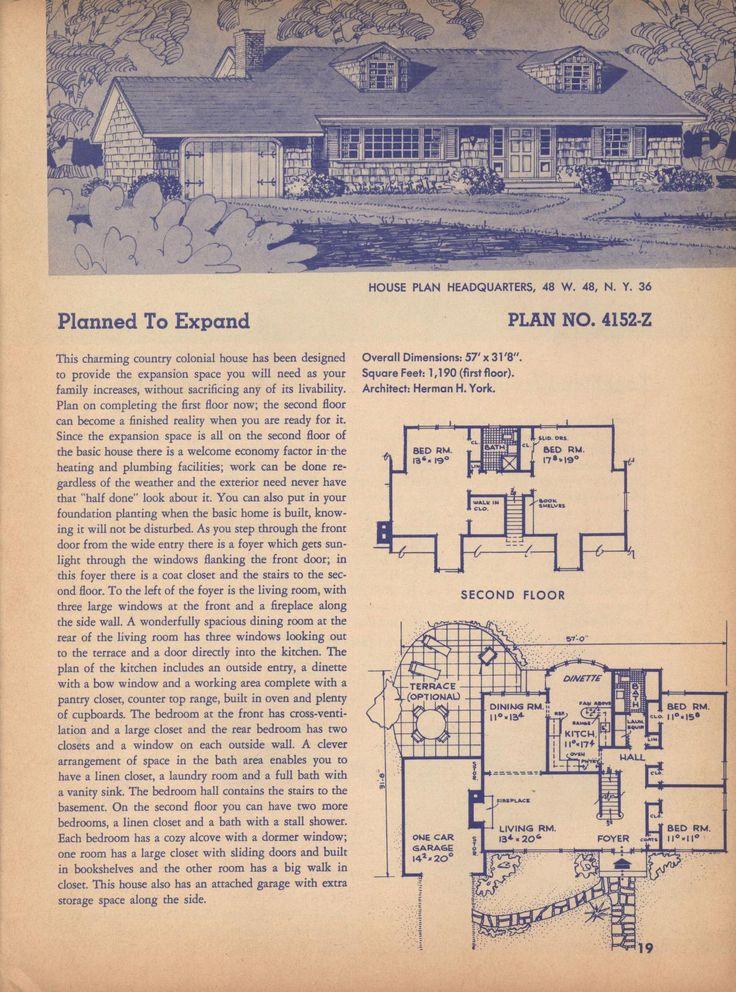 220 best vintage house plans~1960s images on pinterest | vintage