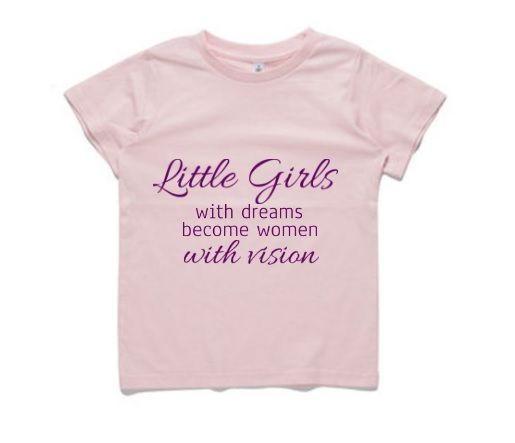 This cute T-Shirt is for any girl who has big dreams about when she grows up. Our little girls range is not about flowers and butterfly's but about letting our girls achieve anything they want