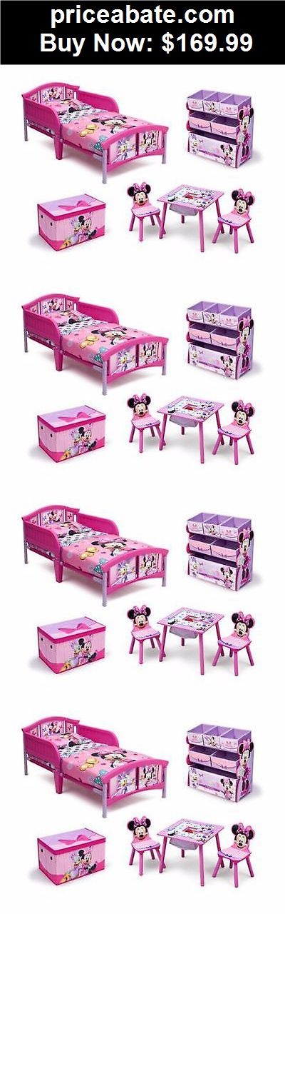 Kids-Furniture: Toddler Bedroom Furniture Set Disney Minnie Mouse Bed Toy Bin Pink Girls New  - BUY IT NOW ONLY $169.99