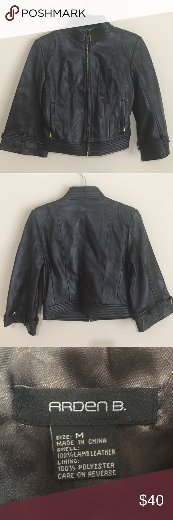 Arden B. Brown Lambskin Leather Jacket This listing is for a gorgeous Arden B. brown lambskin leather jacket with 3/4 length sleeves and gold details. The measurement of the breastline is 18in. Arden B Jackets & Coats