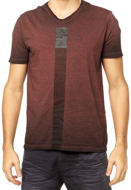 Camiseta Calvin Klein Jeans Marrom - Compre Agora | Dafiti Brasil