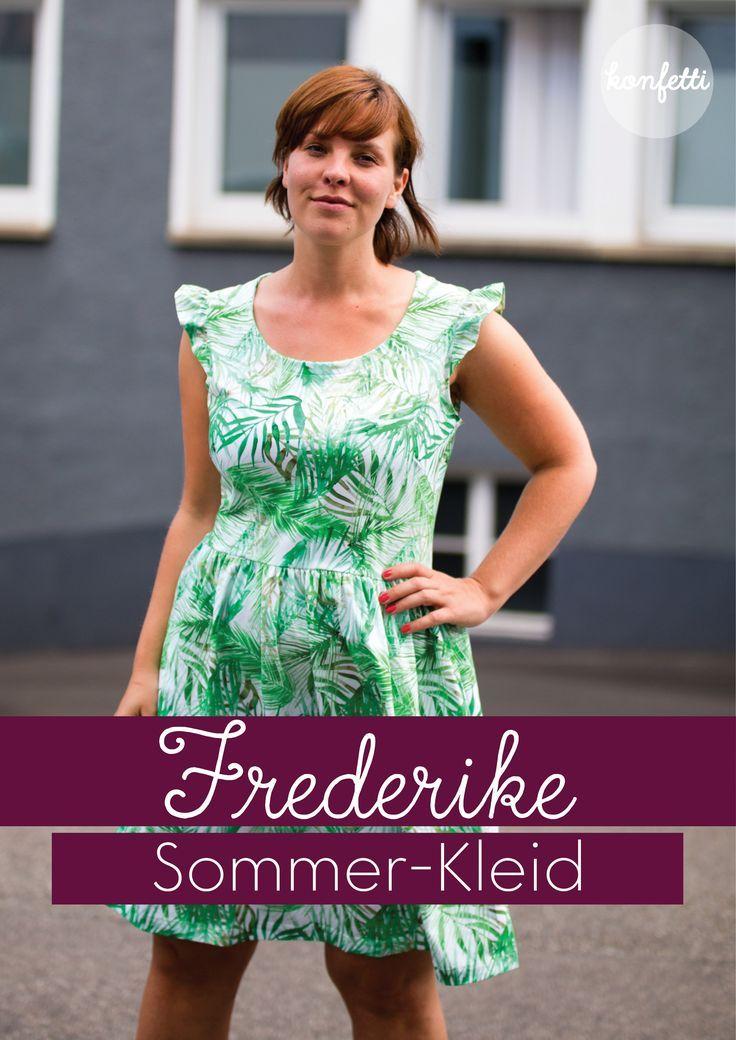 28e19b54ddd Sommerkleider nähen mit dem Schnittmuster Frederike von Konfetti Patterns -  luftige Kleider für Damen ganz einfach