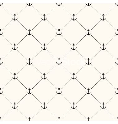Seamless retro pattern polka dot with anchors vector - by svetolk on VectorStock®