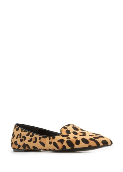 TOUCH - Leopard fur slippers