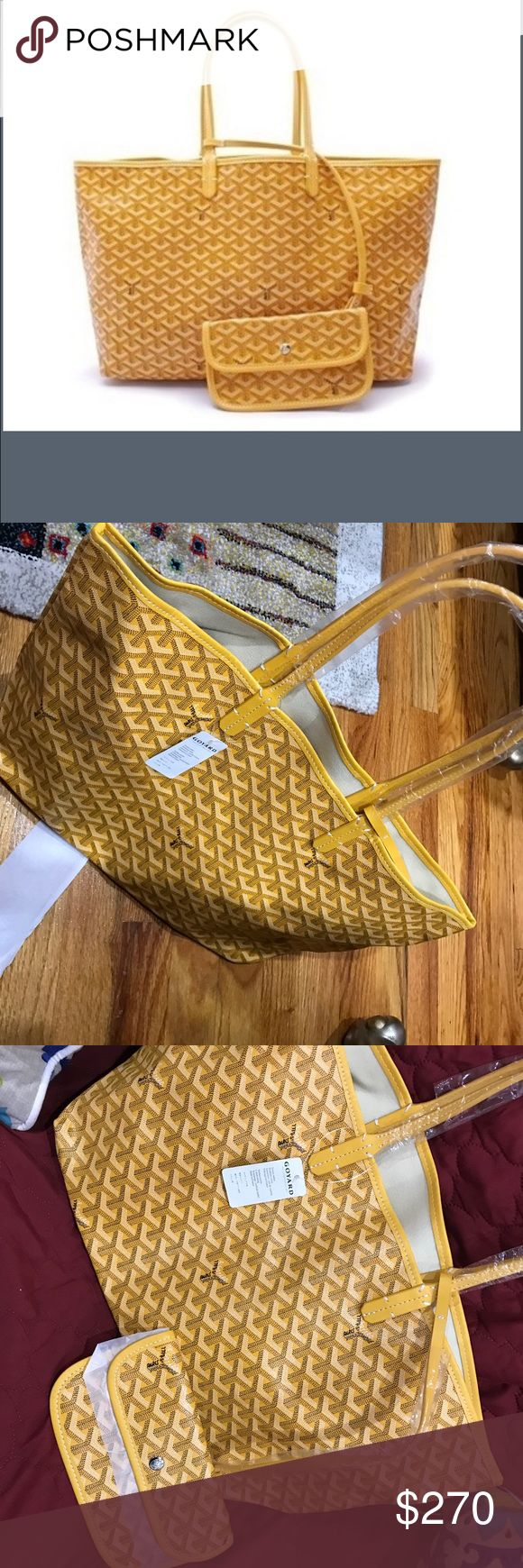 Goyard Paris tote w wallet Brand new goyard Paris tote with wallet. Price reflects authenticity. Comes with goyard dustbag Goyard Bags Totes