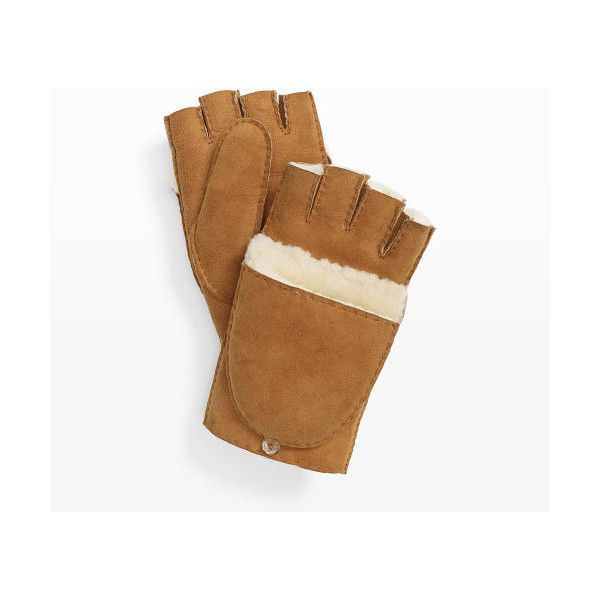 Mackage Mackage Orea Fingerless Glove in Color Brown ($179) ❤ liked on Polyvore featuring accessories, gloves, brown, brown gloves, fingerless gloves, club monaco gloves, club monaco and fingerless leather gloves