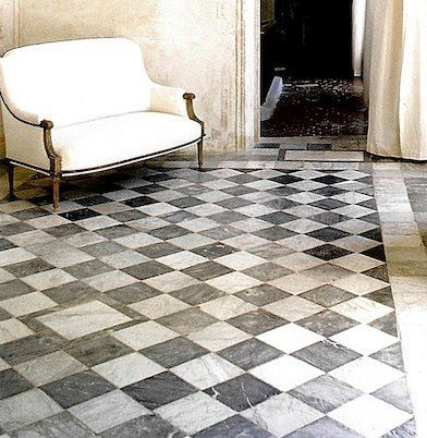 1000 images about checkerboard decor on pinterest for Checkered lino flooring