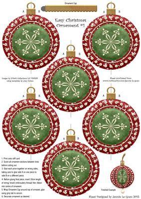 Easy Christmas Ornament 1 on Craftsuprint - Add To Basket!