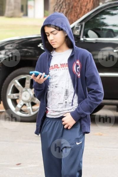 Michael Jacksons 14-year-old son Blanket in May 2016.
