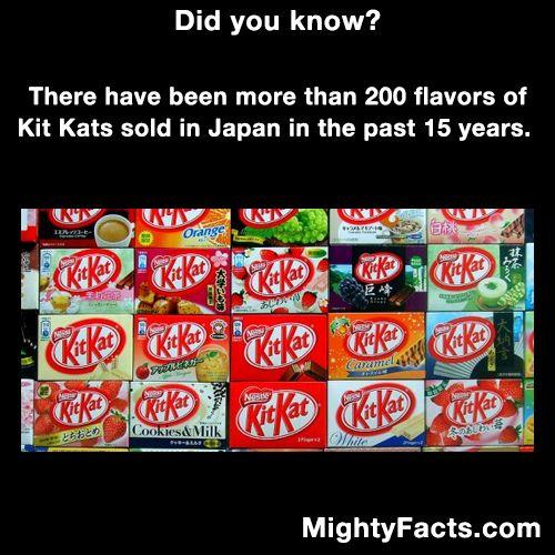 200 flavors of Kit-Kats