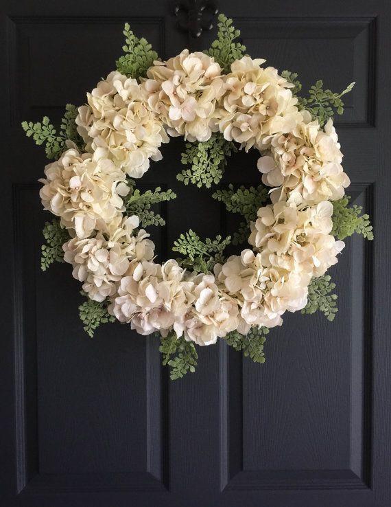 Wedding Wreath Elegance  Front Door Wreaths  by HomeHearthGarden