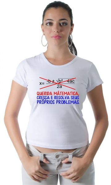 Dica #palcofashion #Camiseta - Matemática #moda #fashion