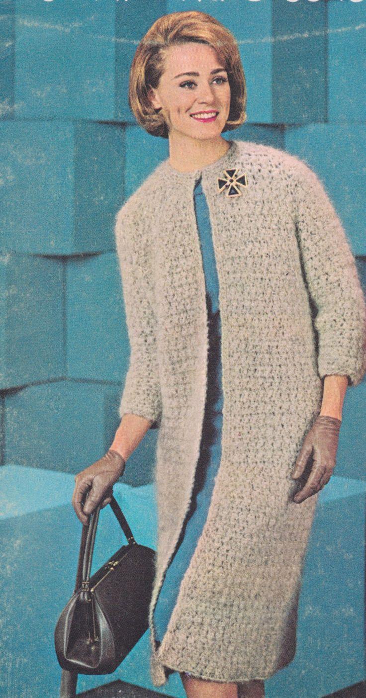 201 best ladies images on pinterest crochet granny crochet 584 ladies coat crochet pattern long sweater pattern long ladies coat long jacket pdf download vintage 1960s free crochet patterns dt1010fo