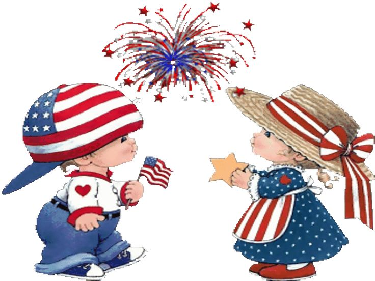 Fourth Of July Pictures Clip Art Little Boy And Girl In