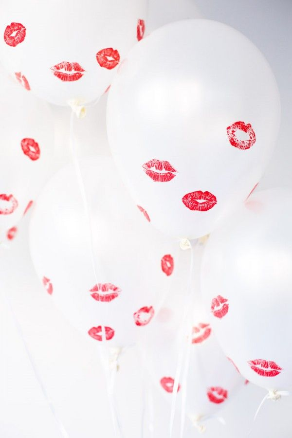 Pucker-up! Balloons for Valentine's day.: