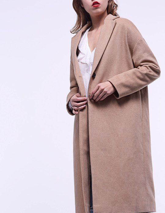 At Stradivarius you'll find 1 Oversize Long Coat for woman for just 92233720368547758.07 - 0 Other Countries . Visit now to discover this and more ALL.