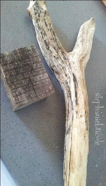 bois flotté pour faire une lampe originale
