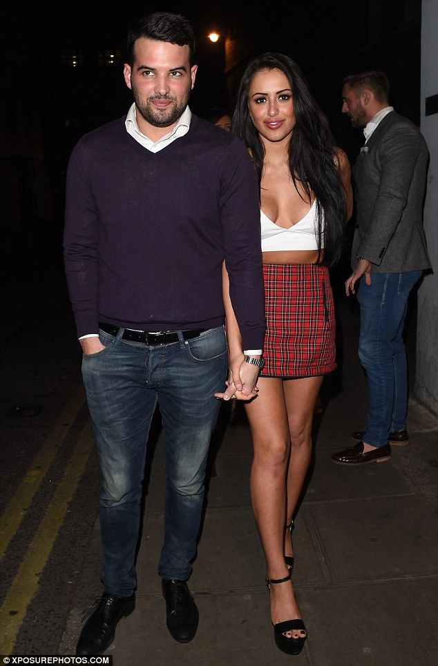 Another night of partying: New couple Ricky Rayment and Marnie Simpson were spotted enjoying a night out at London's Café de Paris on Saturday