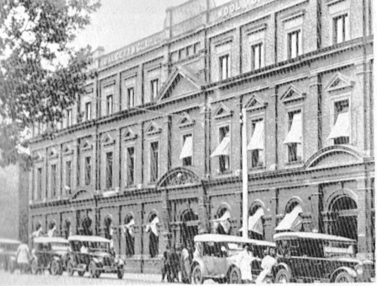 Geelong Wool Store,Mooorabool St,Geelong,Victoria in the Early years.This building was built in 1872.A♥W