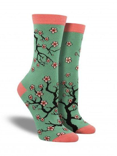 Bamboo Cherry Blossoms Socks