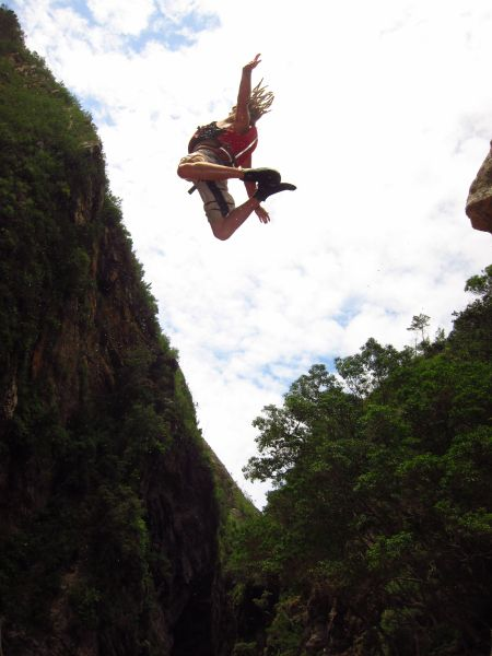Rock Jumping! Kayaking and lilo adventure...