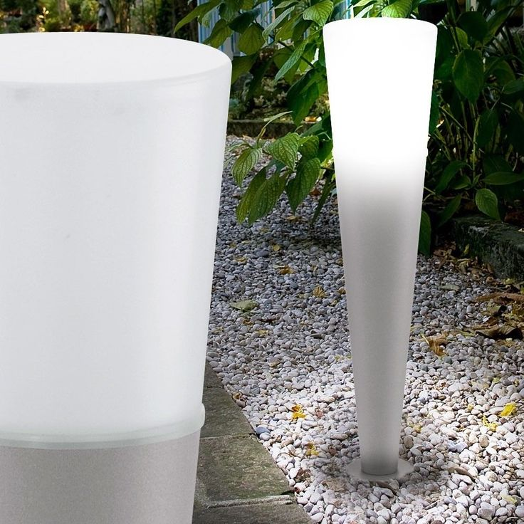 Marvelous Au en Beleuchtung Garten Licht Steck Strahler Steh Leuchte Hof Lampe verzinkt in Garten u Terrasse