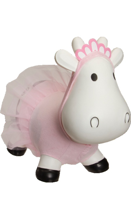 Howdy Bouncy Rubber Cow With Ballerina Costume  $65