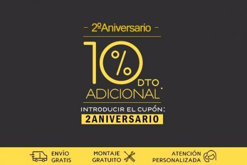 por segundo aniversario de OLHOM un 10% de descuento