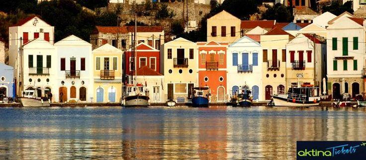 ☛To Καστελόριζο,το ανατολικότερο άκρο της Ελλάδας!.Άλλη ονομασία που έχει δωθεί στο νησί είναι η Μεγίστη,καθώς είναι το μεγαλύτερο νησί σε ένα σύμπλεγμα 14 μικρών νησιών και βραχονησίδων,ενώ πήρε το σημερινό του όνομα από το ενετικό κάστρο,Καστέλο Ρόσο,που δεσπόζει πάνω στον Κόκκινο Βράχο.Το Kαστελόριζο,έγινε γνωστό σε όλη την υφήλιο με αφορμή τη βραβευμένη με Όσκαρ ταινία Mediterraneo το 1992,της οποίας οι περισσότερες σκηνές γυρίστηκαν σε διάφορες τοποθεσίες του νησιού.
