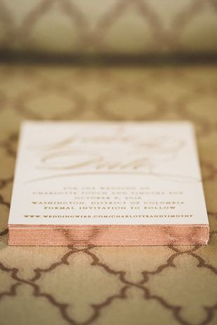 How sophisticated are the colored edges on these invitations?