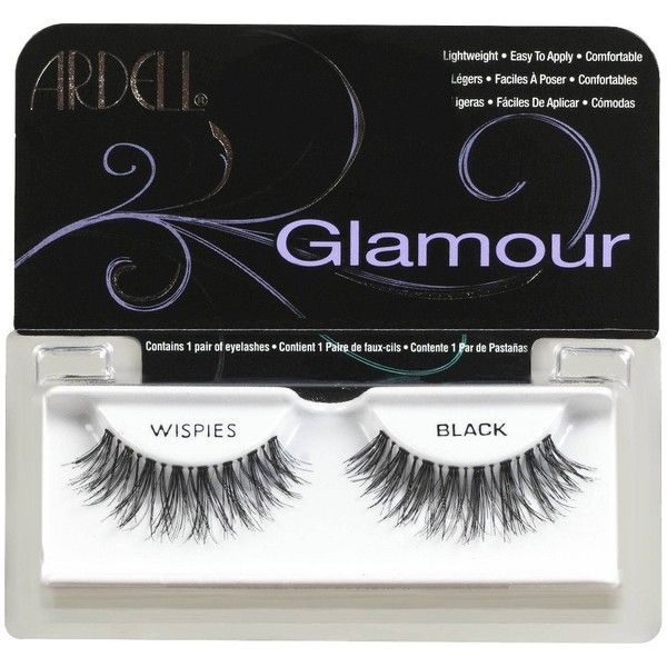 Ardell Fashion Lashes - Wispies Glamour Lashes ($3.89) ❤ liked on Polyvore featuring beauty products, makeup, eye makeup, false eyelashes, ardell false eyelashes, ardell and ardell fake eyelashes