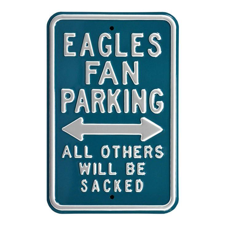 "Philadelphia Eagles 12"" x 18"" Steel Parking Sign - Midnight Green - $35.99"